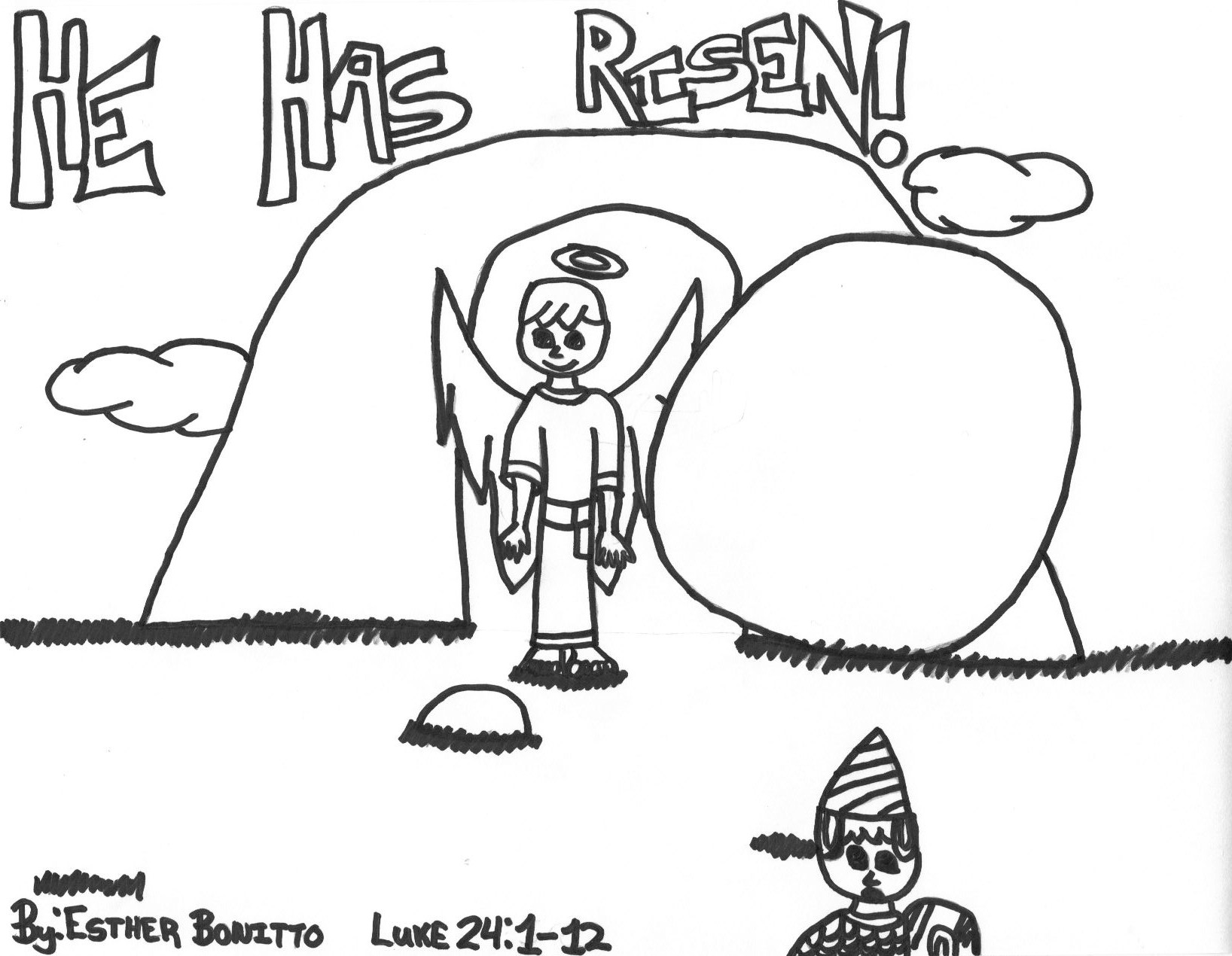 Christ is risen coloring pages coloring pages for Jesus is risen coloring page